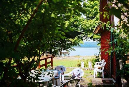 Ganek z widokiem na jezioro